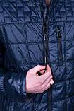 Чоловіча демісезонна стьобана куртка Black Wolf, синього кольору, фото 6
