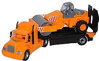 Автомобиль-трейлер Wader Майк + дорожный каток (55712)