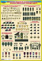 Захист Вітчизни. Плакат. Військові звання й знаки розрізнення. Зразки військової форми одягу