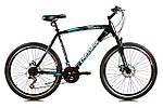 """Горный велосипед CROSSRIDE EVO 2.0 26"""" 19"""" Черный/Синий"""