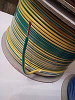 Провод монтажный ПВ3 1,5кв.мм. (CCA),длина 100м,цвет жёлто-зелёный