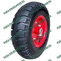 Колесо для тачки 4.00-6 пневматическое, под ось 16 мм, с толстой шиной