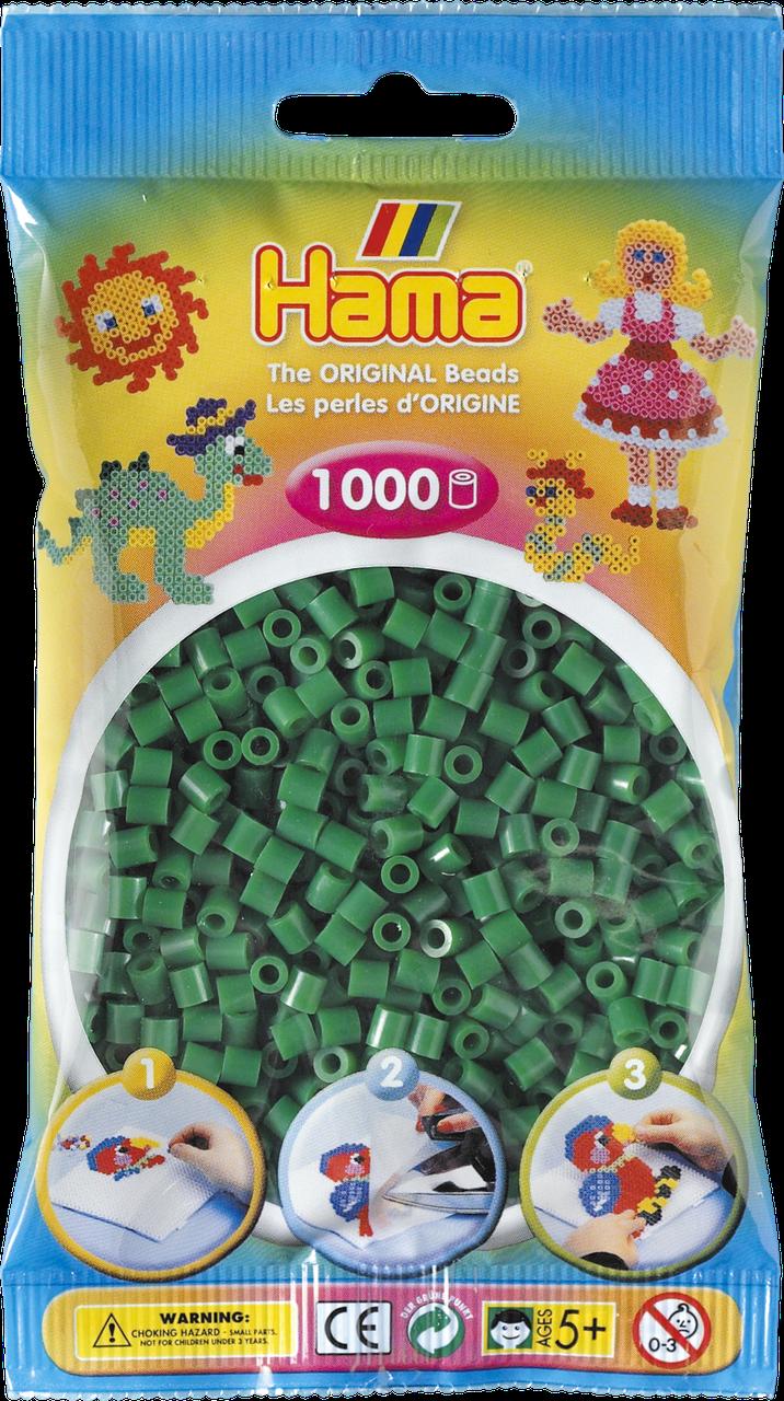 Термомозаика Hama Набор зеленых бусин 1000 шт midi (207-10)
