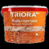Краска TRIORA структурная фасадная 5 кг