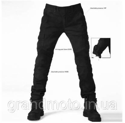 Мото джинсы с защитными вставками Komine черные