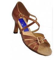 Танцевальные туфли женские, латина, бежевый сатин