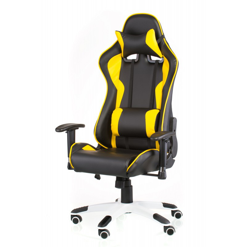 Кресло геймерское Special4You ExtremeRace black/yellow (Е4756)