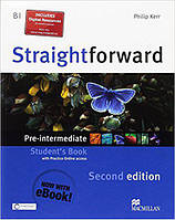 Straightforward Second Edition Pre-Intermediate Student's Book with Online Access Code & eBook(Учебник)