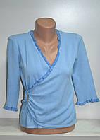 Джемпер женский голубого цвета три четверти рукав, фото 1