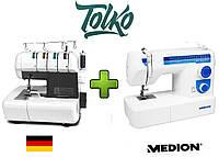 Швейный оверлок Medion MD 16600/14302 + Швейная машинка MD 17187