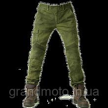 Мото джинси з захисними вставками Komine оливкові