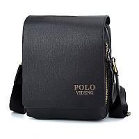 Мужская сумка через плечо POLO VIDENG Черная