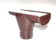 Евро Лейка водосточная  система 110 мм Ø87 шоколад, зеленая
