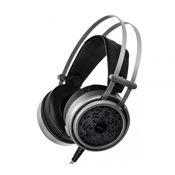Игровые полноразмерные наушники-накладки HOCO W8 Gaming с микрофоном и подсветкой Black
