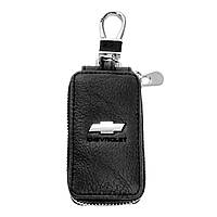 Ключница Carss с логотипом CHEVROLET 14004 черная