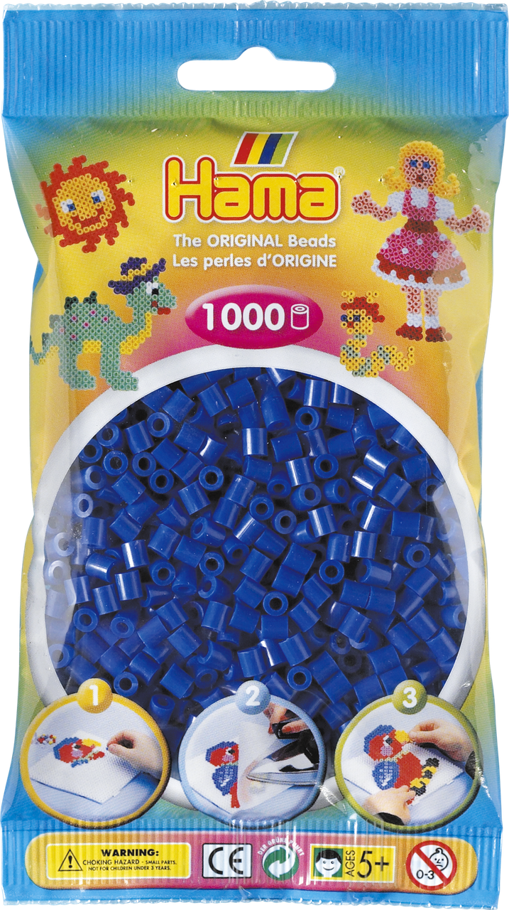 Термомозаика Hama Набор синих бусин 1000 шт midi (207-08)