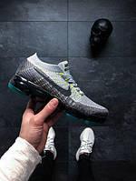 Стильные кроссовки Найк Nike (реплика) Air Vapormax Flyknit E Pure Platinum / Anthracite, фото 1