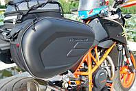 Боковые кофры сумки для мотоцикла через сидение Komine Карбон