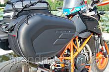 Бокові кофри сумки для мотоцикла через сидіння Komine Карбон
