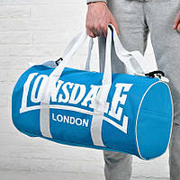 Спортивная сумка Lonsdale London. Для тренировок. Голубая с белым