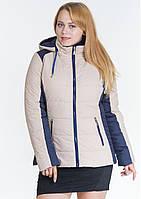 Куртка женская №15 (бежевый/синий)