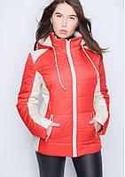 Куртка женская №15 (красный/бежевый)