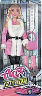 Набор с куклой Ася Городской стиль Блондинка с косичками (35069)