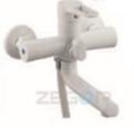 Змішувач для ванни короткий гусак в білому кольорі ZEGOR (TROYA) PUD3-A045-YW