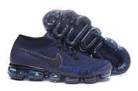 "Кроссовки Nike Air VaporMax Flyknit ""College Navy"" (реплика А+++ ), фото 1"