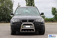 BMW X3 E83 передняя дуга кенгурятник QT006 60мм