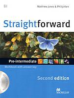 Straightforward Second Edition Pre-Intermediate Workbook with key and Audio-CD (Рабочая тетрадь)