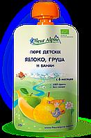 Пюре Fleur Alpine органическое детское Яблоко, Груша и Банан 120 г