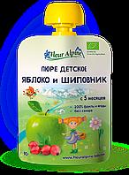 Пюре Fleur Alpine органическое детское Яблоко и Шиповник 90 г