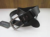 Кожаный ремень REMAR 35 мм чёрный