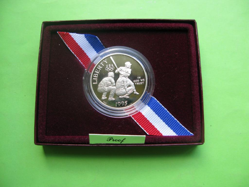 США 50 центов 1995 г. Олимпиада в Атланте .Пруф, фото 1