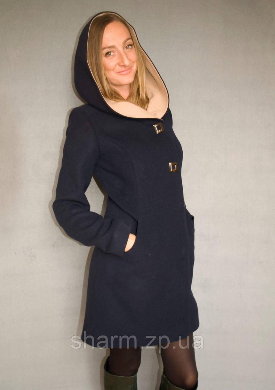 Пальто женское №49/1 ЗИМА (синий) - фото 1