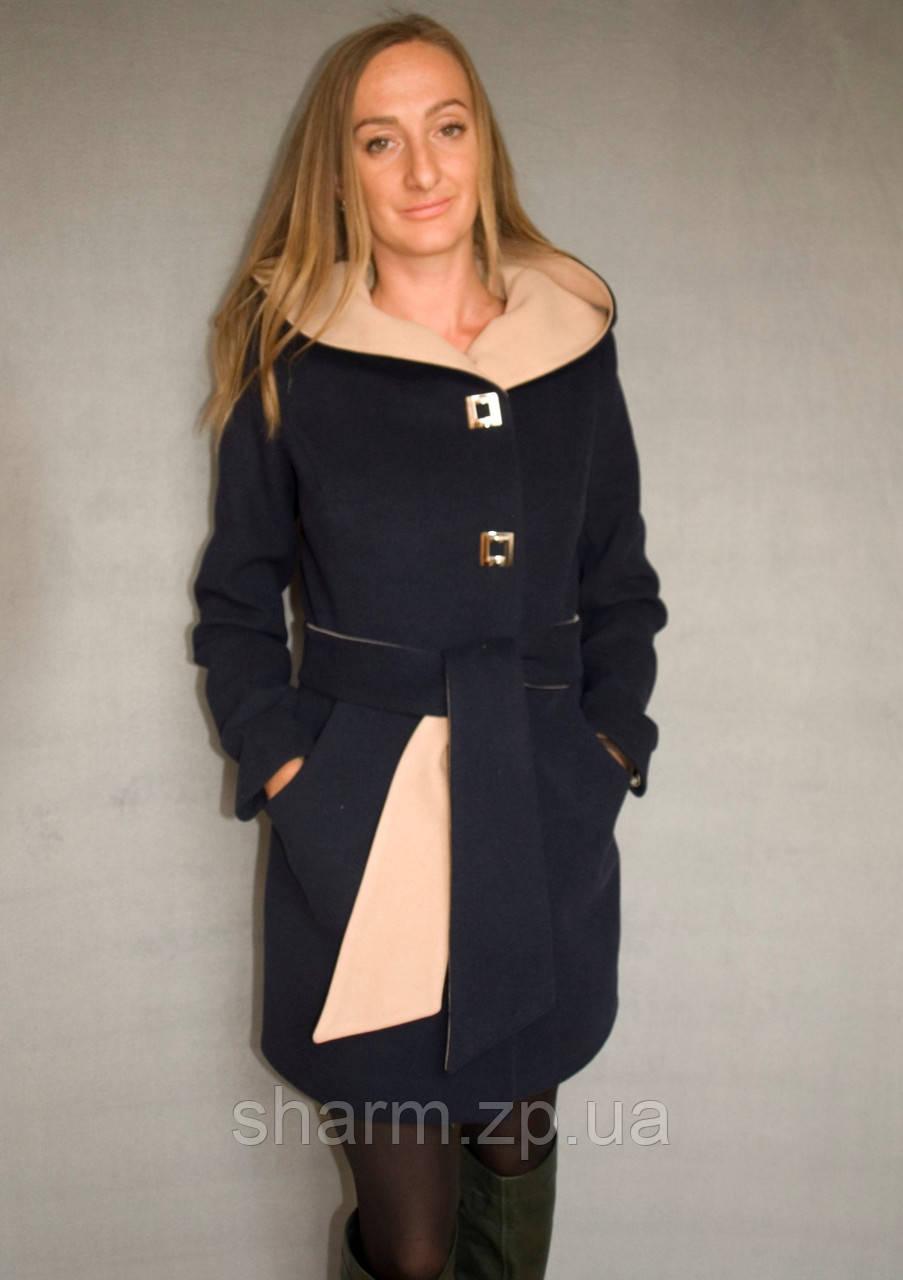 Пальто женское №49/1 ЗИМА (синий) - фото 2