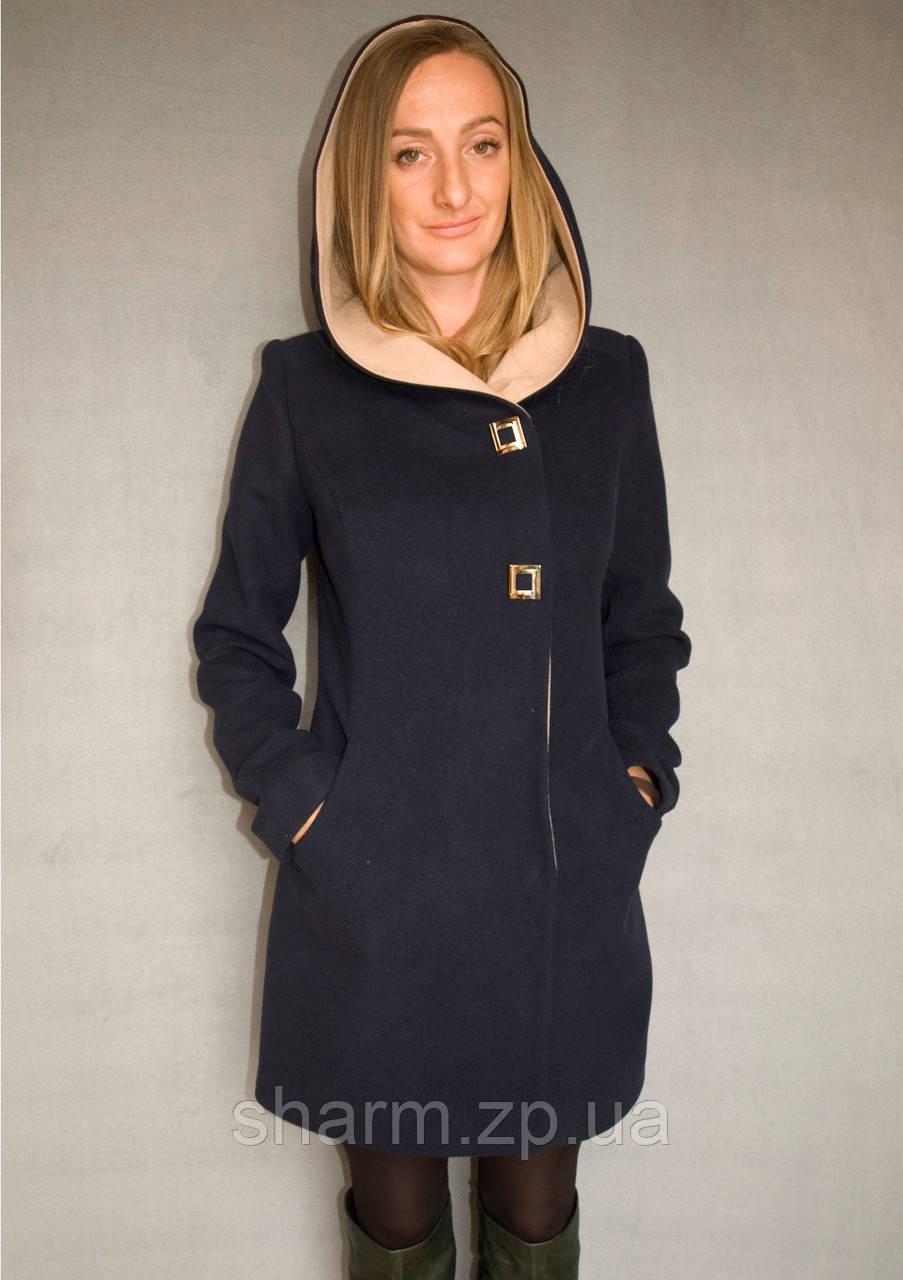 Пальто женское №49/1 ЗИМА (синий) - фото 3