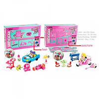 Набор игровой 2562AB, LOL, кукла см, шар9, 5см, мебель, 2в(машинка, мотоцикл), в кор, 44-28-10, 5см