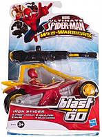 Железный паук Hasbro на трицикле с пусковым механизмом Spider-man (B1472 (B0748-2))