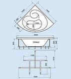 Гидромассажная ванна с врезным смесителем Triton Синди, 1250х1250х640 мм, фото 2