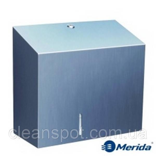 Держатель туалетной бумаги джамбо металлический Merida Stella Duo