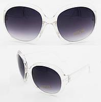 Очки солнцезащитные Chanel прозрачная оправа, линза - фиолетовый градиент