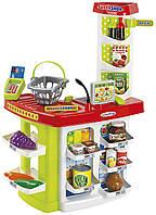 Игровой набор Ecoiffier Продуктовый супермаркет Chef с кассой, корзинами и продуктами (1784)