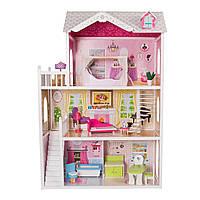 Игровой кукольный домик для барби EcoToys California 4107wog 124см