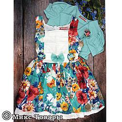 Дитячі плаття з болеро для дівчаток Розміри: 5-6 та 7-8 років (6135-1)