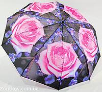 """Зонт женский полуавтомат с цветочным принтом на 10 спиц от фирмы """"SL"""""""