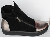 Ботинки женские замшевые на низком ходу, ботинки демисезонные женские от производителя модель НП1515-6, фото 1