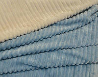 Плюш Minky Stripes (страйпс) голубой