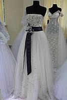 Свадебное латье с поясом